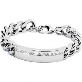 BROSWAY GLAMOR men's bracelet in white swarovski steel BGL02
