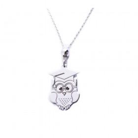 Owl man necklace ALBOLINO JEWELERY in RA-GUFO silver