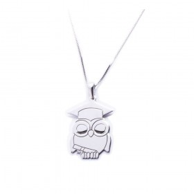 Men's owl necklace ALBOLINO JEWELRY in silver RA-GUFOCAPELLO
