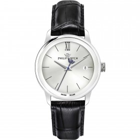 PHILIP WATCH man time only watch in steel and leather R8251150005