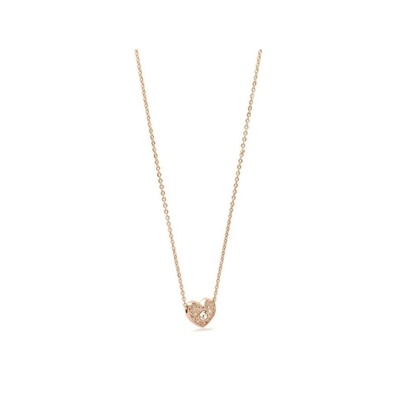 BROSWAY EPSILON women's necklace in rose gold PVD steel with BEO07 crystals