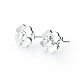 BROSWAY EPSILON cloverleaf earrings with BEO21 crystals