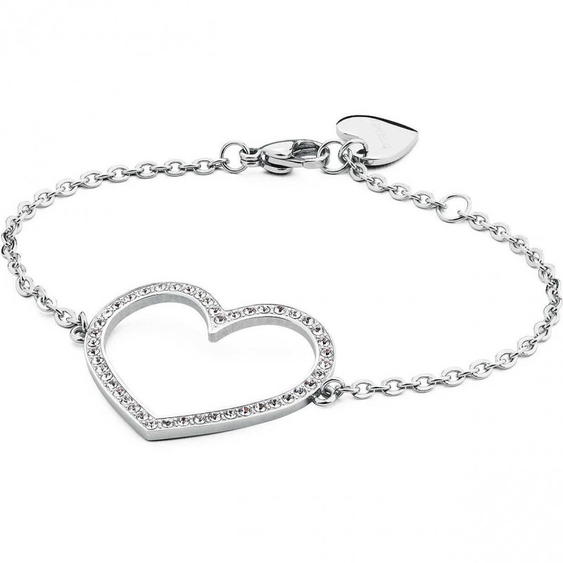 BROSWAY MINUETTO steel bracelet with heart and BMU11 crystals
