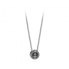 BROSWAY NAUTILUS man necklace still in black enamel steel BNU04