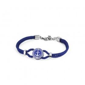 BROSWAY NAUTILUS man bracelet blue steel blue enamel BNU13 cord
