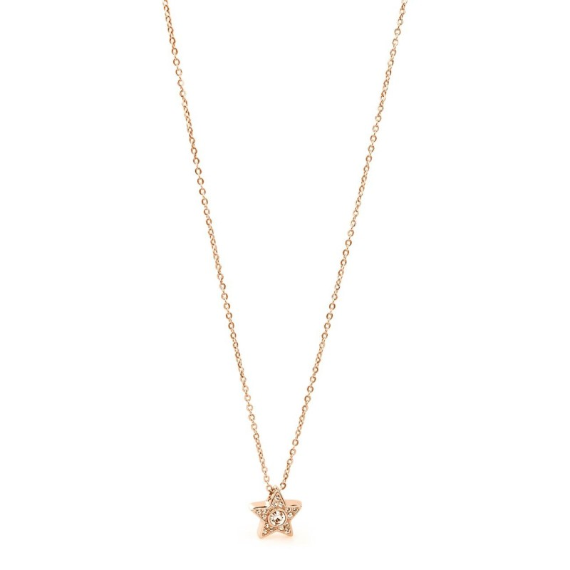 BROSWAY EPSILON woman necklace in rose gold PVD steel with BEO06 crystals