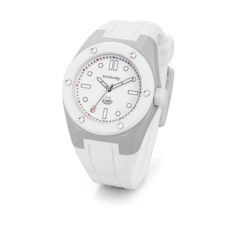 Wristwatch man BROSWAY ICARO in white polycarbonate WIC03