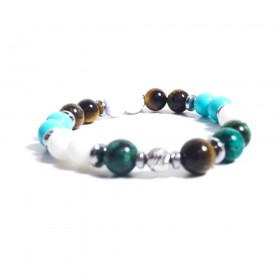 ALBOLINO JEWELRY woman elastic bracelet with colored natural stones ALBN-23