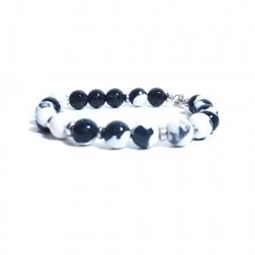 Silver men's bracelet GIOIELLERIA ALBOLINO with natural stones ALBN-47