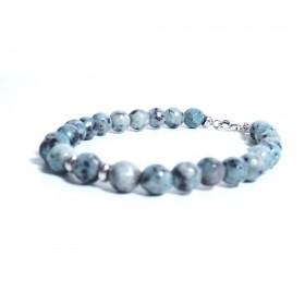 Silver man bracelet ALBOLINO JEWELERY with natural stones ALBN-50