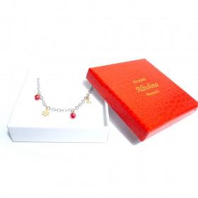 Silver women's bracelet GIOIELLERIA ALBOLINO with pendants ALBN-56