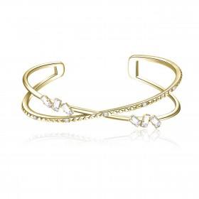 BROSWAY CALLIOPE women's rigid bracelet in brass and BOP14 zircons