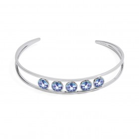 BROSWAY SYMPHONIA women's rigid bracelet in steel and BYM28 crystals