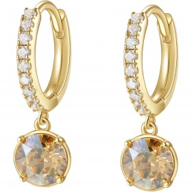 BROSWAY AFFINITY women's earrings in brass and BFF138 crystals