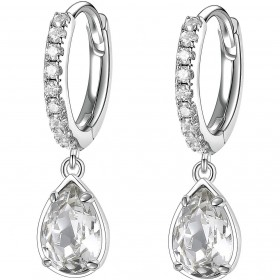 BROSWAY AFFINITY women's pendant earrings in steel and BFF133 crystals