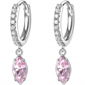 BROSWAY AFFINITY women's pendant earrings in brass and BFF137 pink crystals