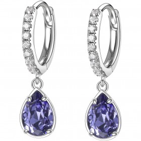 BROSWAY AFFINITY women's pendant earrings in brass and blue crystal BFF135