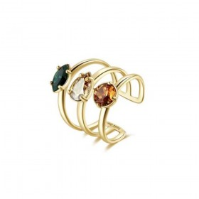 BROSWAY AFFINITY women's ring in gold rhodium-plated brass and BFF149B crystals