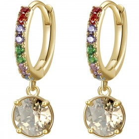 BROSWAY AFFINITY women's earrings in brass and BFF141 crystals