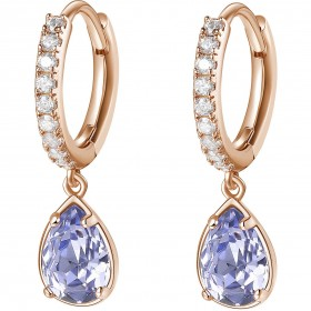 BROSWAY AFFINITY women's pendant earrings in brass and BFF140 purple crystals